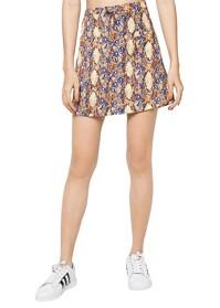 Chân váy chữ A họa tiết nâu Labelle SK15