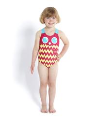 Đồ bơi bé gái Speedo 8-10412A775 Tropic Patchrld Essential Applique 1 Pi (Đỏ)