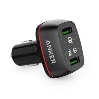Sạc ô tô Anker PowerDrive+ 2 QC 3.0 A2224  - 2 cổng, 42W