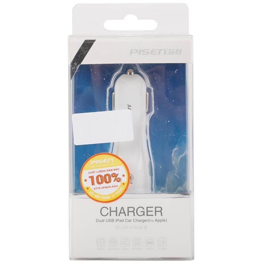 Sạc trên ô tô Pisen Dual USB Car Charger
