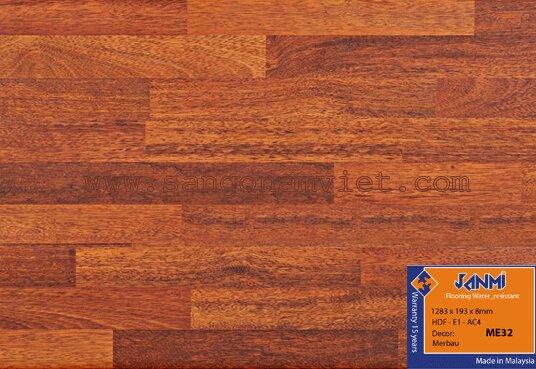 Sàn gỗ công nghiệp Janmi ME32