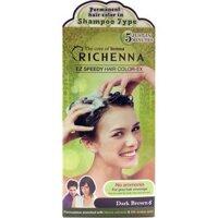 Sản phẩm nhuộm tóc dạng dầu gội Richenna 60g x 3