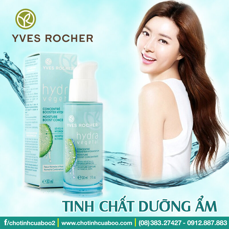 Serum dưỡng ẩm cho da mất nước Yves Rocher Moisture Boost Concentrate 30ml