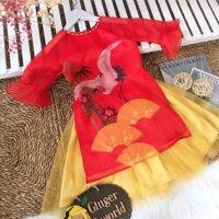 Set áo dài cho bé Ginger world AD31