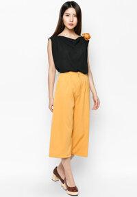 Set áo & quần Hoàng Khanh áo cách điệu, quần culottes HK 204