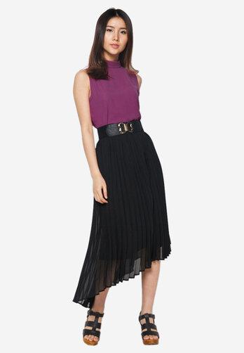 Set áo - váy maxi Hoàng Khanh Fashion kèm thắt lưng