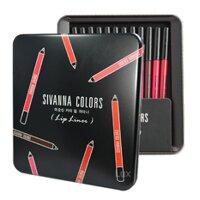 Set son bút chì Sivanna Color Lip Liner Set