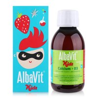 Siro bổ sung Canxi và Vitamin D3 Alba Thyment Albavit Kids Calcium + D3 150ml