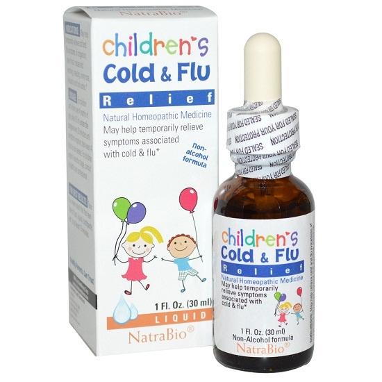 Siro cảm cúm Children Cold & Flu Relief Natrabio 30ml