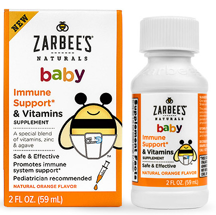 Siro tăng đề kháng Zarbee's Immune Support and Vitamins cho bé