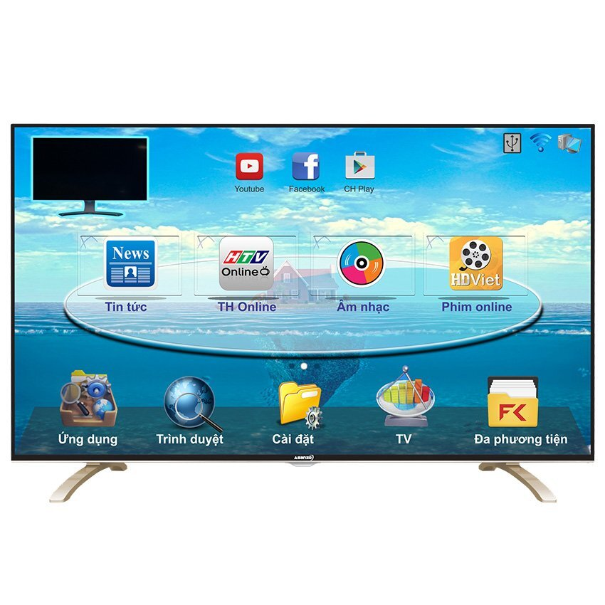 Smart Tivi LED Asanzo 40E800 - 40inch, Full HD (1920x1080)