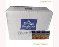 Sữa tươi tiệt trùng hương dâu Oldenburger - Thùng 24 hộp x 200ml