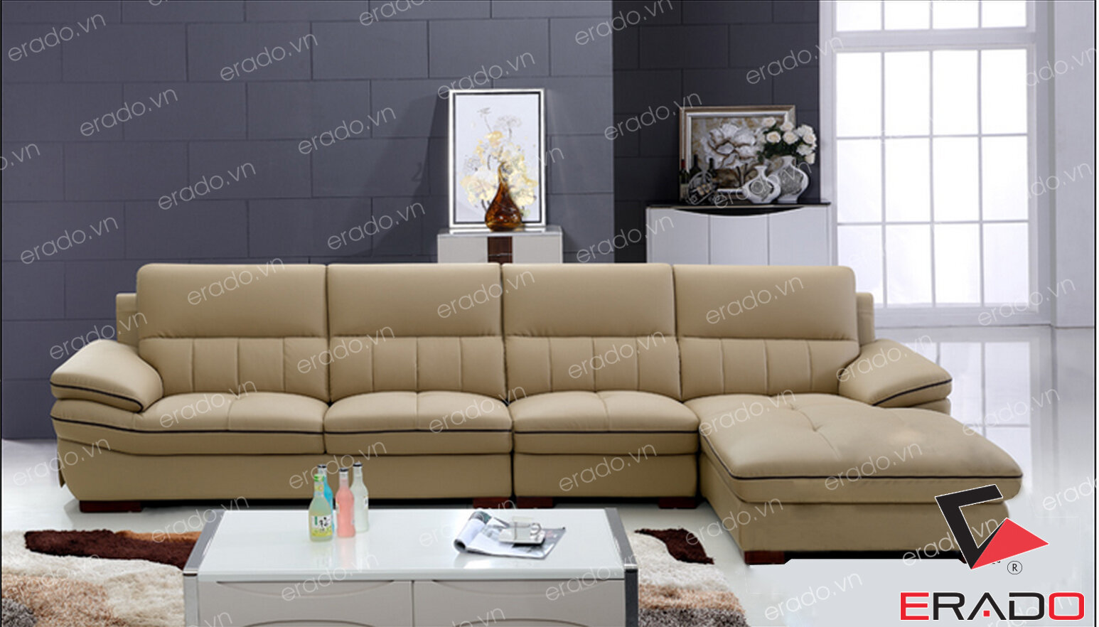 Sofa da mã 306