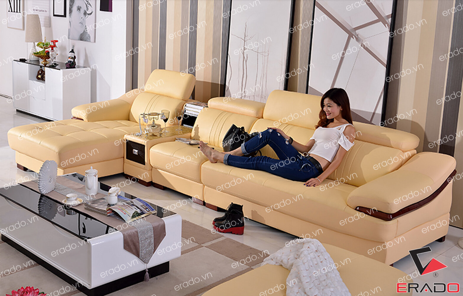 Sofa da mã 321