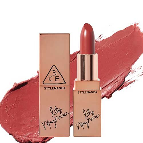 Son 3CE Stylenanda Lily May Mac 118 Holy Rose - Đỏ đất