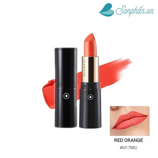 Son lì CLEMATIS Potpourri Lipstick M1788U – Red Orange – Đỏ Cam