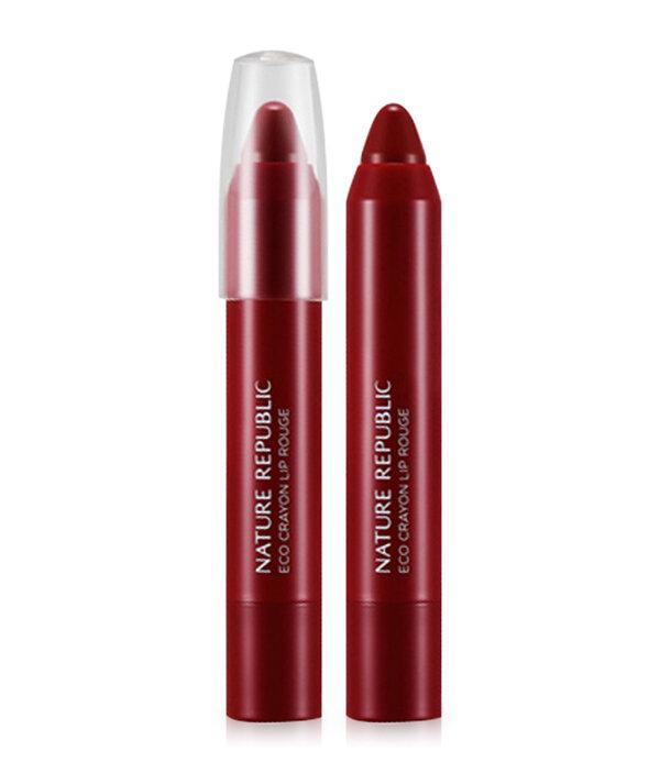 Son môi bút sáp Nature Republic Eco Crayon Lip Rouge #05 Burgundy Red 2.5g