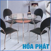 Bộ bàn ăn kính Hòa Phát B53 (G53)