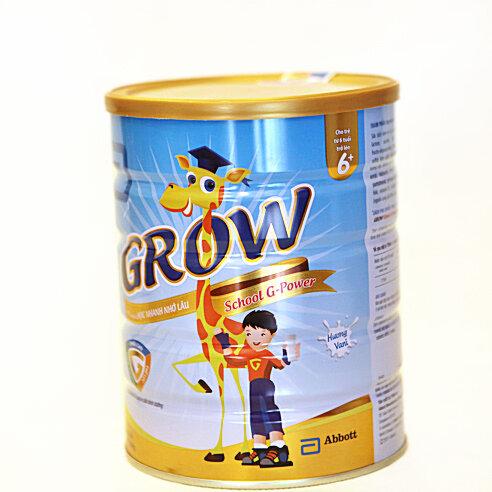 Sữa bột Abbott Grow School G-Power 6+ - hộp 900g (dành cho trẻ từ 6 - 10 tuổi)