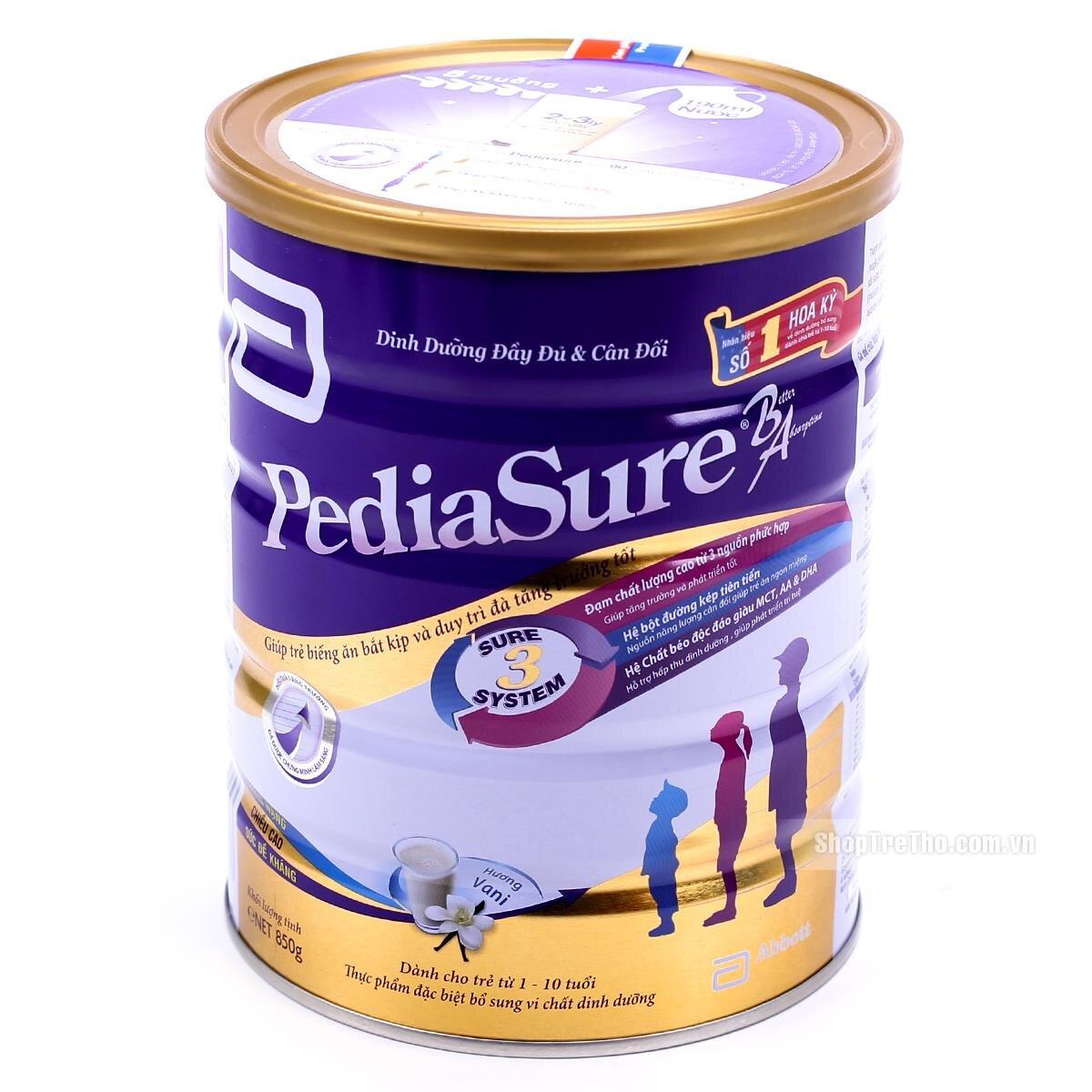 Sữa bột Abbott PediaSure B/A - hộp 1600g (dành cho trẻ biếng ăn từ 1 - 10 tuổi)
