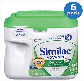 Sữa bột Abbott Similac Advance Organic Infant Formula - hộp 658g (0-12 tháng)
