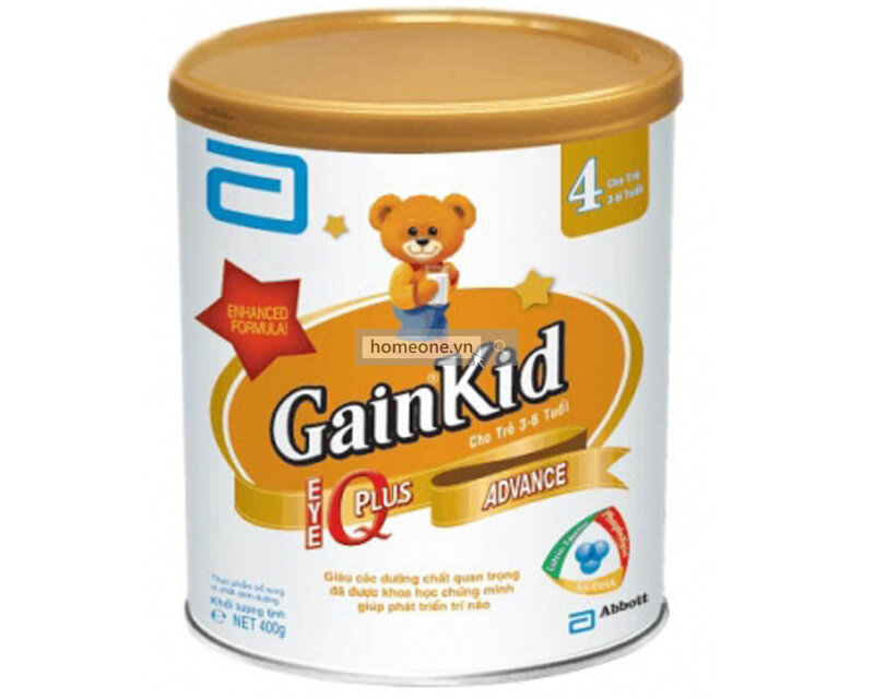 Sữa bột Abbott Similac Gain Kid IQ 4 - hộp 400g (dành cho trẻ từ 3 - 6 tuổi)