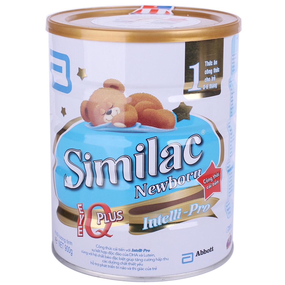 Sữa bột Abbott Similac Newborn IQ 1 - hộp 900g (dành cho trẻ từ 0 - 6 tháng)