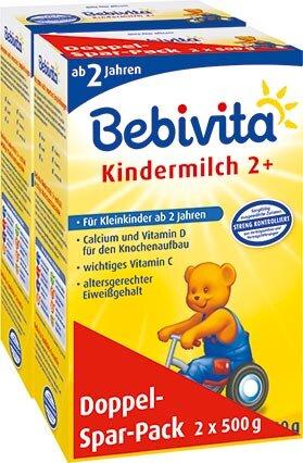 Sữa bột Bebivita Kindermilch 2+ - hộp 500g (dành cho trẻ từ 2 tuổi trở lên)