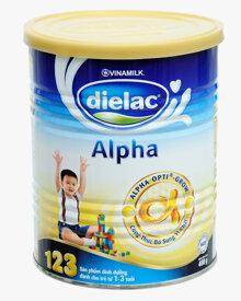 Sữa bột Dielac Alpha 123 - hộp 400g (hộp giấy dành cho trẻ từ 1 - 3 tuổi)