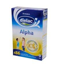 Sữa bột Dielac Alpha 456 - hộp 400g (hộp giấy dành cho trẻ từ 3 tuổi trở lên)
