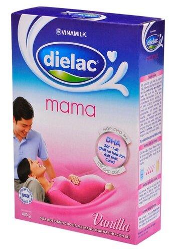 Sữa bột Dielac Mama - hộp 400g (hộp giấy dành cho bà mẹ mang thai và cho con bú)