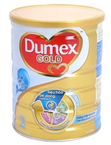 Sữa bột Dumex Gold 2 - hộp 800g (cho trẻ từ 6 - 12 tháng)