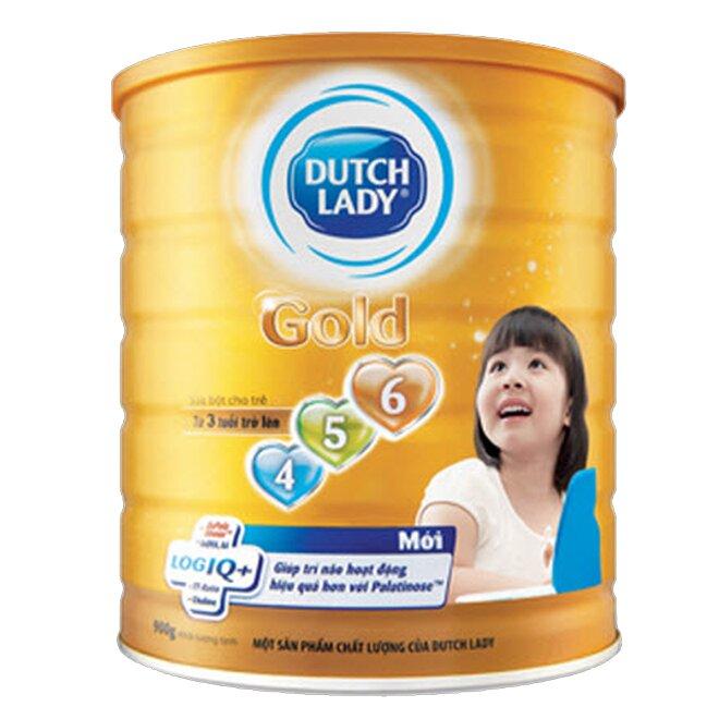 Sữa bột Dutch Lady Cô gái Hà Lan Gold 456 - hộp 900g (dành cho trẻ trên 3 tuổi)