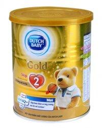 Sữa bột Dutch Lady Cô gái Hà Lan Gold Step 2 - hộp 400g (dành cho trẻ từ 6 - 12 tháng tuổi)