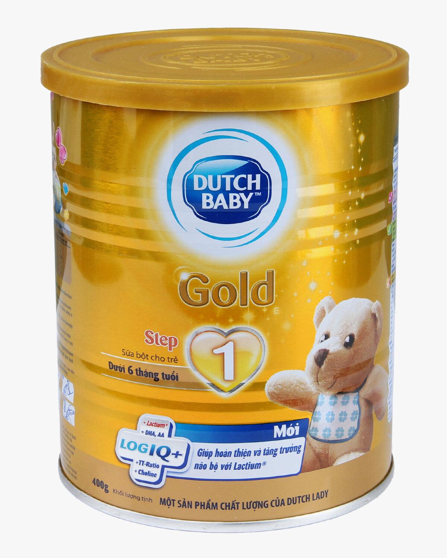 Sữa bột Dutch Lady Cô gái Hà Lan Gold Step 1 - hộp 400g (dành cho trẻ từ 0 - 6 tháng tuổi)