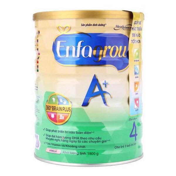 Sữa bột Enfagrow A+ 4 - hộp 1800g (dành cho trẻ từ 3 - 6 tuổi)