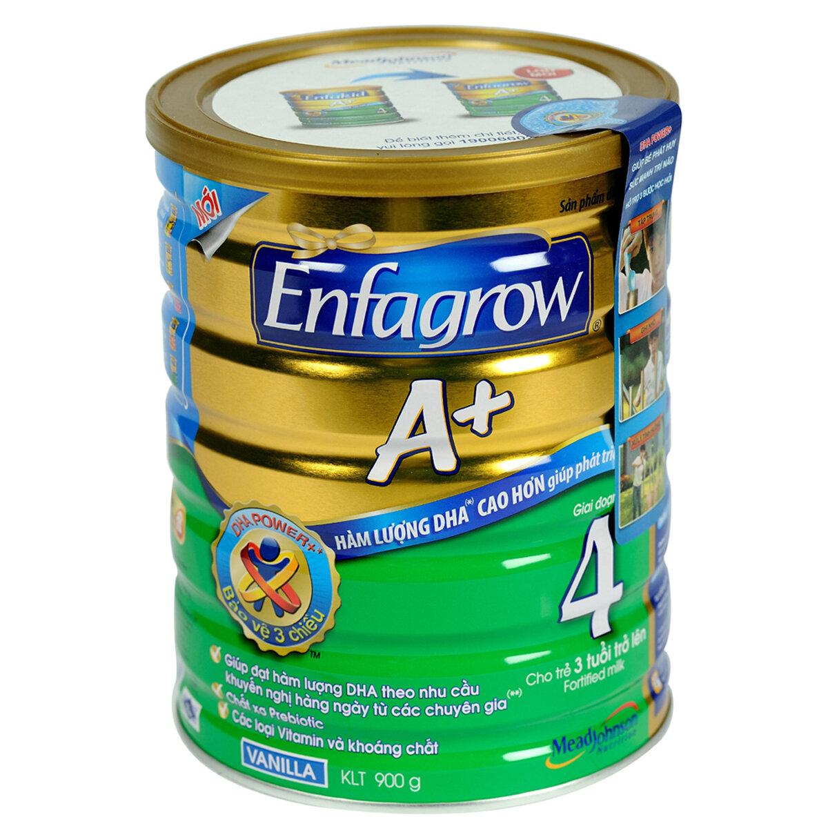Sữa bột Enfagrow A+ 4 - hộp 900g (dành cho trẻ từ 3 - 6 tuổi)