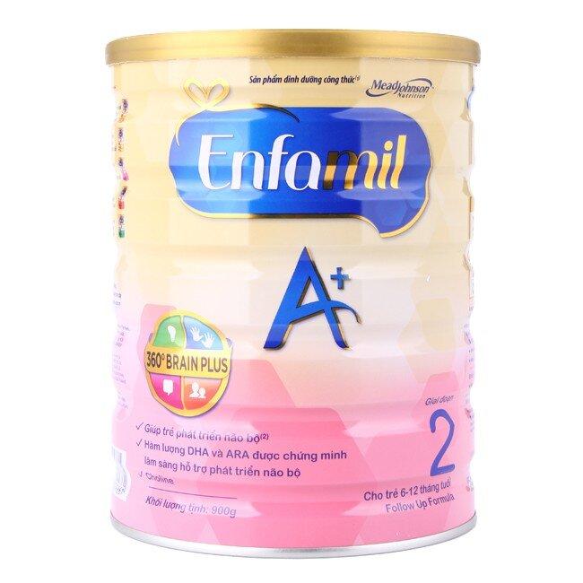 Sữa bột Enfamil A+ 2 - hộp 900g (dành cho trẻ từ 6 - 12 tháng)