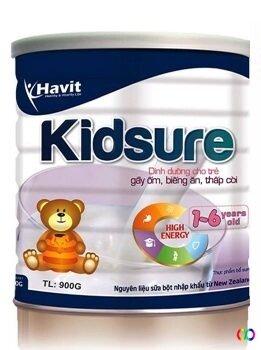 Sữa bột Havit Kidsure 900g (trẻ 1-6 tuổi biếng ăn thấp còi)