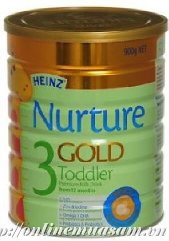 Sữa bột Heinz Nurture Gold số 3 - hộp 900g (dành cho trẻ từ 1 - 3 tuổi)