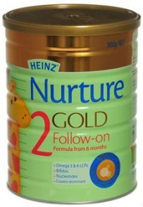 Sữa bột Heinz Nurture Gold số 2 - hộp 900g (dành cho trẻ từ 6 - 12 tháng)
