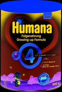 Sữa bột Humana Gold 4 - 800g (dành cho trẻ 2-12 tuổi)