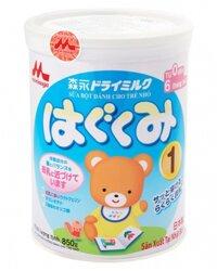 Sữa bột Morinaga Hagukumi số 1 - hộp 850g (dành cho bé 0-6 tháng)