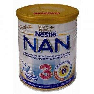Sữa bột Nan 3 Nga - hộp 400g (dành cho trẻ từ 1 - 3 tuổi)