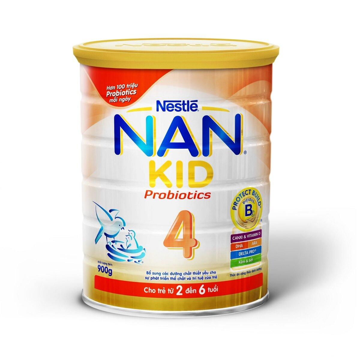 Sữa bột Nan Optipro Kid 4 - hộp 900g (dành cho trẻ từ 3 tuổi trở lên)