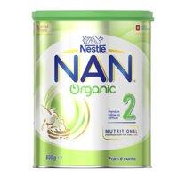 Sữa bột Nan Organic số 2 (Úc) - 800g, dành cho trẻ từ 6-12 tháng