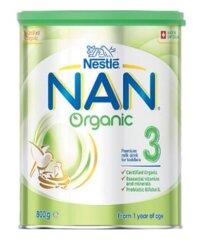 Sữa bột Nan Organic số 3 (Úc) - 800g, dành cho trẻ từ 1-3 tuổi