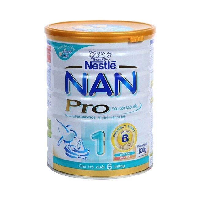 Sữa bột Nan Pro 1 - hộp 800g (dành cho trẻ từ 0 - 6 tháng)