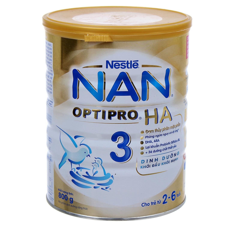 Sữa bột Nestle NAN HA 3 - 800g (dành cho trẻ 2-6 tuổi)
