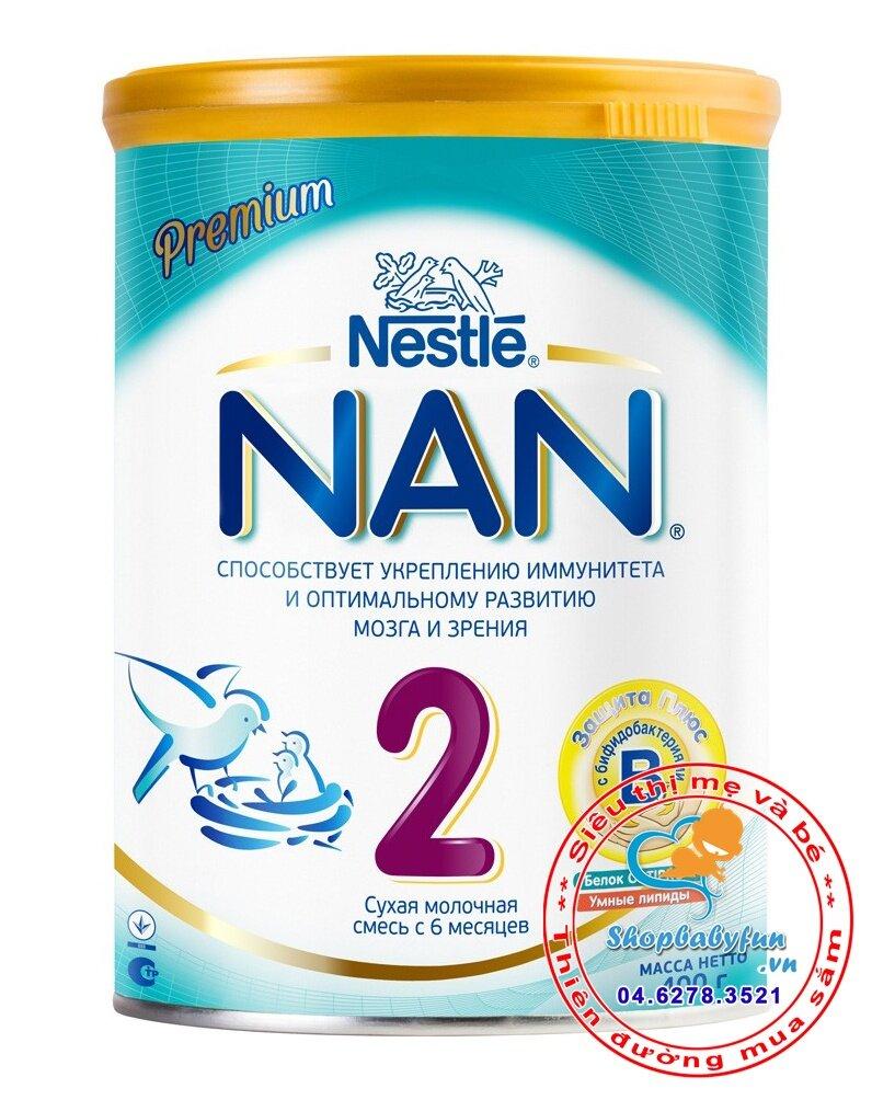 Sữa bột Nestle Nan Optipro 2 Nga - hộp 400g (dành cho trẻ từ 6 - 12 tháng)